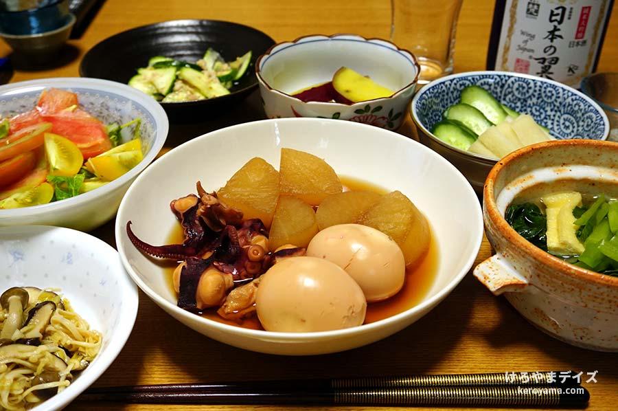 煮込み料理 たこ、大根、卵